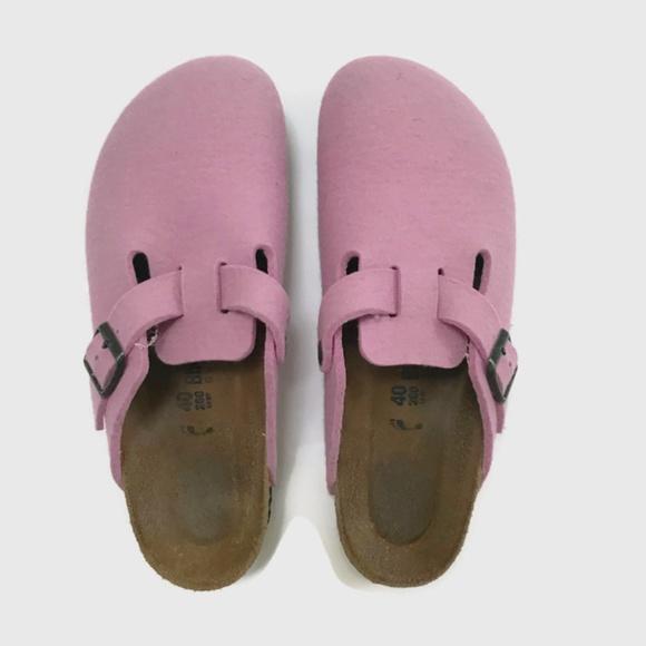 cc74845221647b Birkenstock Shoes - Birkenstock Boston Pink Felt Clogs Sandals